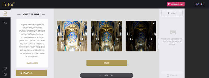 Create a HDR photo with Foter