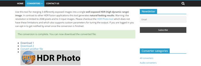 Download the merged HDR photo