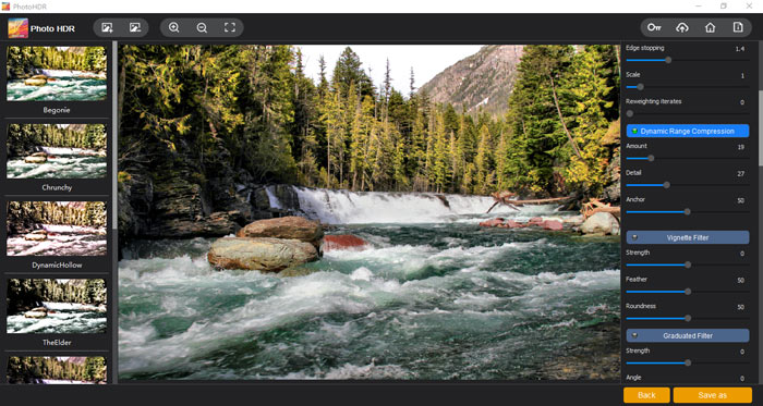 """The """"Dynamic Range Compression"""" section of Photo HDR"""