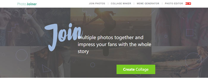 Stitch images with Photo Joiner