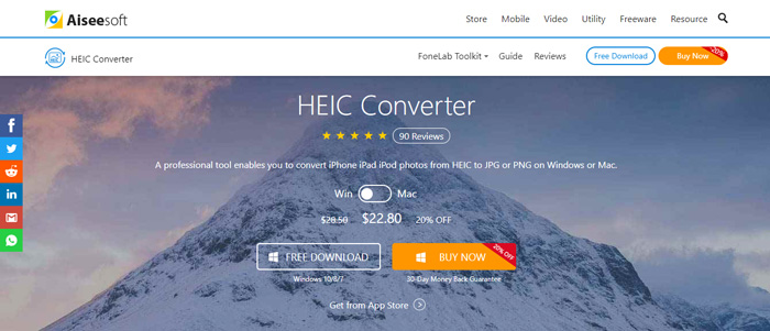 Make a JPG or PNG from HEIC format with Aiseesoft HEIC Converter