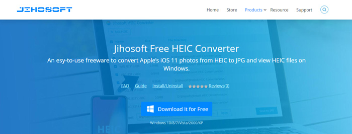 Create JPGs or PNGs from HEIC images with Jihosoft HEIC Converter