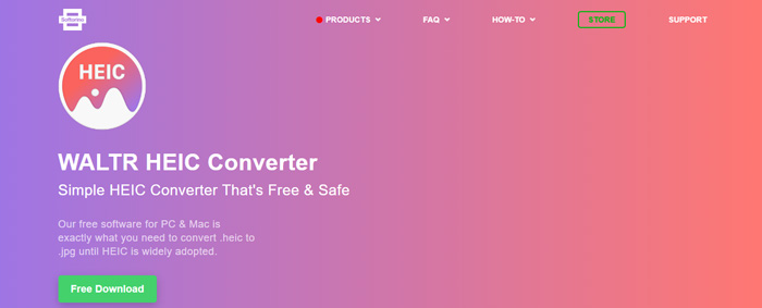 Get JPG and PNG format from HEIC with WALTR HEIC Converter