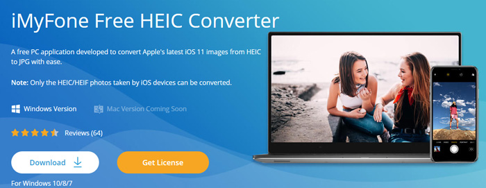 Acquire a JPG from an HEIC image with iMyFone Free HEIC Converter