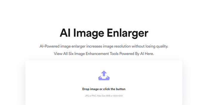 Make an image bigger without affecting its quality with AI Image Enlarger