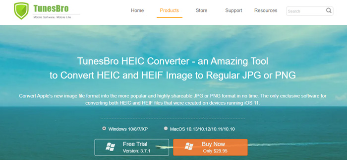 Change HEIC photos to PNGs or JPGs with TunesBro HEIC Converter
